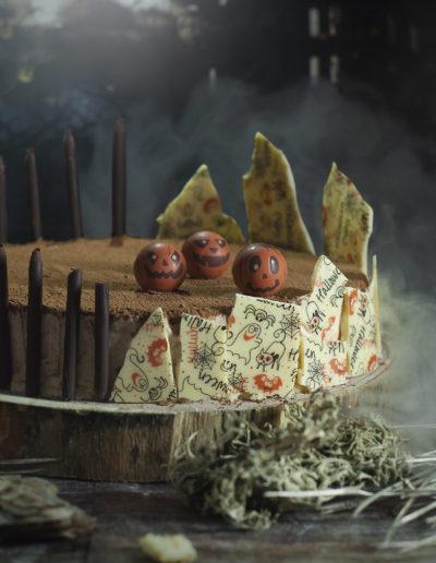 Variété de décoration en chocolat pour cet Halloween