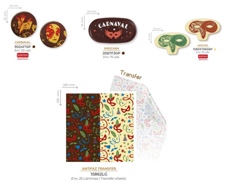 Decoración de chocolate para Carnaval 2021